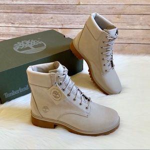 "Timberland Light Taupe Jayne 6"" Waterproof Boots"
